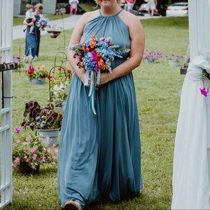 David's Bridal Steel Blue - Size 12 dress